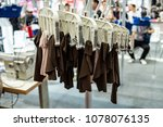 fully automatic garment hanging ... | Shutterstock . vector #1078076135