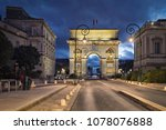 the porte du peyrou    a... | Shutterstock . vector #1078076888