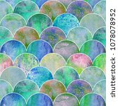 fish scale ocean wave japanese... | Shutterstock . vector #1078078952