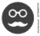 halftone dot pension smiley... | Shutterstock .eps vector #1078080755