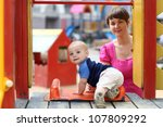 little baby is going to sliding ... | Shutterstock . vector #107809292