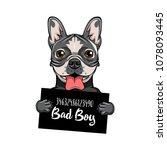 bulldog prison. dog criminal.... | Shutterstock .eps vector #1078093445