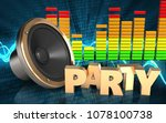 3d illustration of loud speaker ... | Shutterstock . vector #1078100738