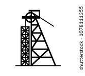 pile driver icon | Shutterstock .eps vector #1078111355