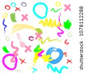abstract colorful cute... | Shutterstock .eps vector #1078112288