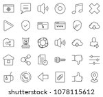 thin line icon set   browser... | Shutterstock .eps vector #1078115612