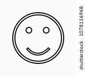 smile emoji positive face... | Shutterstock .eps vector #1078116968