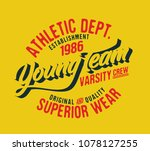 college. college typography tee ... | Shutterstock .eps vector #1078127255