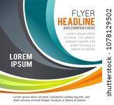 vector brochure  flyer ... | Shutterstock .eps vector #1078129502