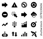 solid vector icon set   right... | Shutterstock .eps vector #1078130606