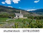 capella on the tartscher bichl... | Shutterstock . vector #1078135085