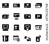 solid vector icon set   credit... | Shutterstock .eps vector #1078135748