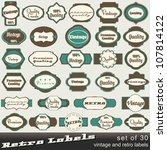 large set of 30 vintage premium ... | Shutterstock . vector #107814122