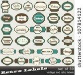 large set of 30 vintage premium ... | Shutterstock . vector #107814122