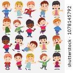 cartoon character boys and... | Shutterstock .eps vector #1078145792