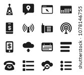 flat vector icon set   phone...