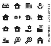flat vector icon set   house... | Shutterstock .eps vector #1078154585
