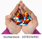 top view of the pills on the...   Shutterstock . vector #1078156982