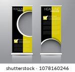 roll up stand design. vertical... | Shutterstock .eps vector #1078160246