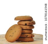 chocolate chip cookies isolated ...   Shutterstock . vector #1078161548