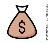 cash bag dollar  | Shutterstock .eps vector #1078163168