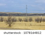 autumn landscape  steppe with... | Shutterstock . vector #1078164812