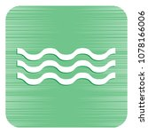 water waves icon. vector...