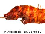 pork barbecue scenery showing a ... | Shutterstock . vector #1078175852