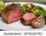 top sirloin beef steak cooked... | Shutterstock . vector #1078182782