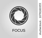 focus icon. focus symbol. flat... | Shutterstock .eps vector #1078183355