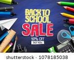 back to school vector banner... | Shutterstock .eps vector #1078185038