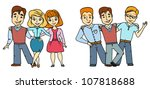 friends | Shutterstock .eps vector #107818688