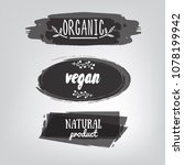 labels with vegetarian and raw... | Shutterstock .eps vector #1078199942