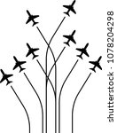 airplane flying formation  air... | Shutterstock . vector #1078204298
