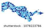 uzbekistan map mosaic of small... | Shutterstock .eps vector #1078223786