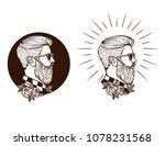 vector black and white set of... | Shutterstock .eps vector #1078231568
