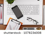 items for business and... | Shutterstock . vector #1078236008