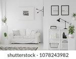 elegant living room interior... | Shutterstock . vector #1078243982