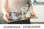 traditional turkish coffee...   Shutterstock . vector #1078244405