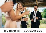 best man performing speech for... | Shutterstock . vector #1078245188