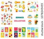 summer element collection ... | Shutterstock .eps vector #1078245455