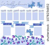 weekly planner with decorative... | Shutterstock .eps vector #1078256852