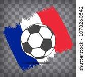 soccer ball icon on french flag ... | Shutterstock .eps vector #1078260542