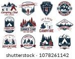 summer camp. vector... | Shutterstock .eps vector #1078261142