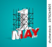 may day  happy labour day eps 10 | Shutterstock .eps vector #1078264805