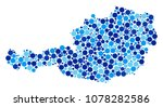 austria map mosaic of round... | Shutterstock .eps vector #1078282586