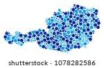 austria map mosaic of round... | Shutterstock .eps vector #1078282586