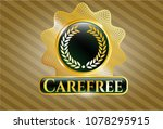 gold badge or emblem with... | Shutterstock .eps vector #1078295915