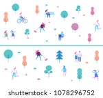 outdoor activity. background... | Shutterstock .eps vector #1078296752