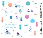 outdoor activity. background... | Shutterstock .eps vector #1078296755